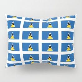 Sainte lucieFlag of Saint Lucia-Saint Lucia,Sainte Lucie,Saint Lucian,Lucien,Castries. Pillow Sham