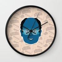 seinfeld Wall Clocks featuring George Costanza - Seinfeld by Kuki