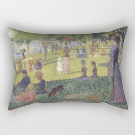 Georges Seurat's A Sunday Afternoon on the Island of La Grande Jatte Rectangular Pillow