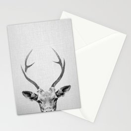 Deer - Black & White Stationery Cards