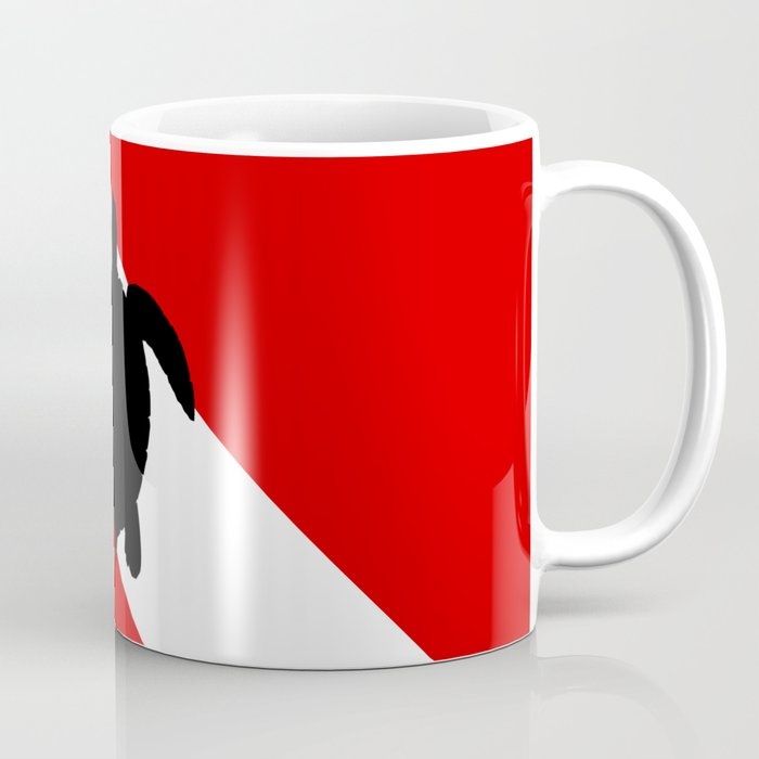 Diving Flag: Sea Turtle Coffee Mug