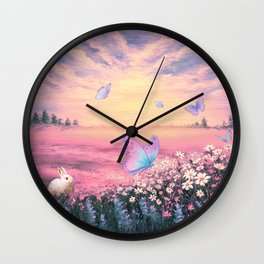 Somewhere Between Earth and Heaven Wall Clock