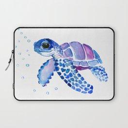 Blue Purple Sea Turtle, Turtle for nursery Laptop Sleeve
