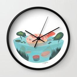 Sushi Fish Wall Clock