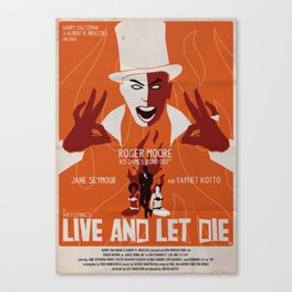 LIVE AND LET DIE POSTER Canvas Print