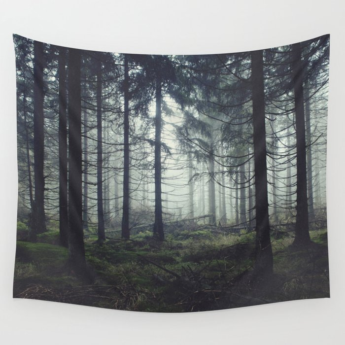Through The Trees Wall Tapestry