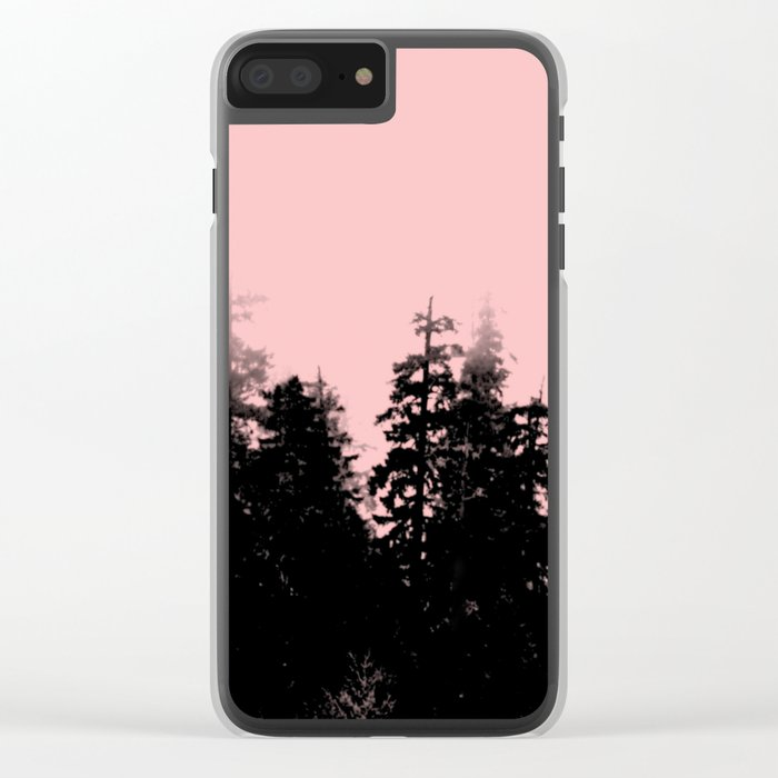 pale woods Clear iPhone Case