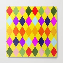 Retro art deco tile Metal Print