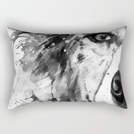 Australian Shepherd Dog Half Face Portrait Rectangular Pillow