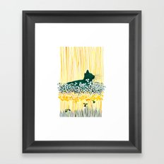 Clover Cat Framed Art Print