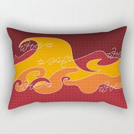 Waves V red colors V WH Rectangular Pillow