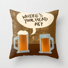 Head At Throw Pillow