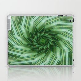 Green Stripes Kaleidoscope 7 Laptop & iPad Skin