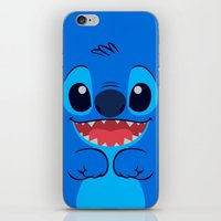 stitch iPhone & iPod Skins featuring Stitch by skyetaylorrr