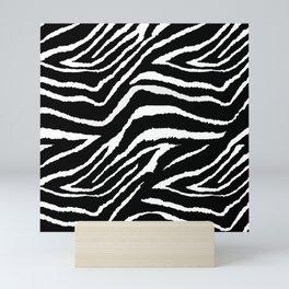 Animal Print Zebra Black and White Mini Art Print