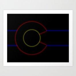 Glowrayrado Art Print
