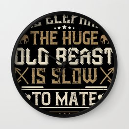 Elephant Quote - 39 Wall Clock