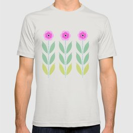 Pink Flower Trio T-shirt
