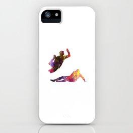 Mens Football Slide Tackling Quote Art Design Insp iPhone Case