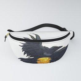 Crow Grabbing Sphere Fanny Pack
