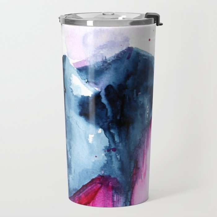 Abstract Indigo Mountains 2 Travel Mug