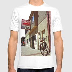 Community Pub & Eatery MEDIUM White Mens Fitted Tee