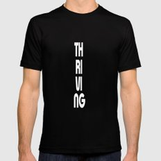 Thriving Mens Fitted Tee MEDIUM Black