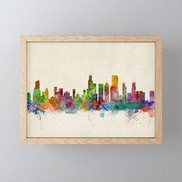 Chicago City Skyline Framed Mini Art Print