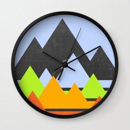 Beneath Layers Wall Clock