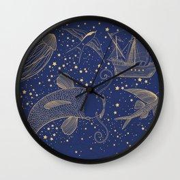 Ocean Meets Sky Hard Case Wall Clock