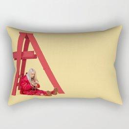 don't smile at me Rectangular Pillow