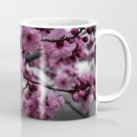 cherry blossom Mugs featuring Cherry Blossom by Michelle McConnell