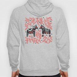 Swedish Dala Horses – Red and Black Palette Hoody
