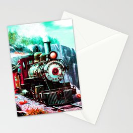 starry night train Stationery Cards