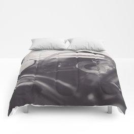Super car details, british triumph spitfire, black & white, high quality fine art print, classic car Comforters