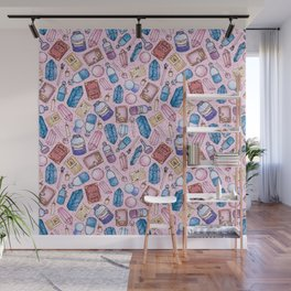 Witchy Stuff Pink Wall Mural