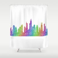 chicago Shower Curtains featuring Chicago by David Zydd