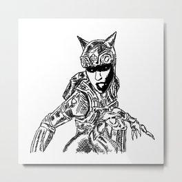 Cat Woman Injustice Metal Print