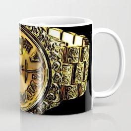 Gold Nugget Diamond Watch Coffee Mug