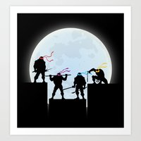 teenage mutant ninja turtles Art Prints featuring Teenage Mutant Ninja Turtles by offbeatzombie