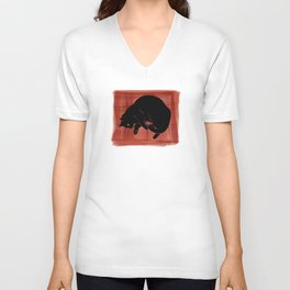 Olivia, the cat on the porch Unisex V-Neck