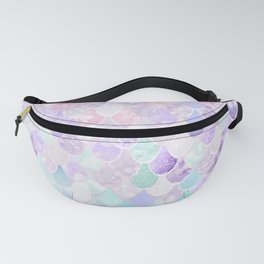 Cute Mermaid Pattern, Light Pink, Purple, Teal Fanny Pack