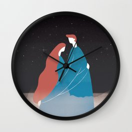 The Star, the Sea and Us Wall Clock