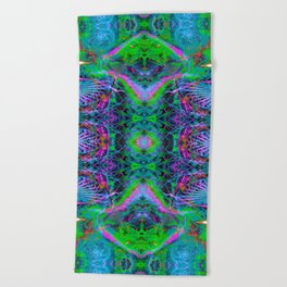Techno Electric V (Ultraviolet) Beach Towel