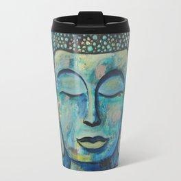 Blue Zen Buddha Travel Mug