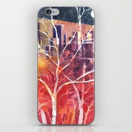 Towers between the trees iPhone Skin