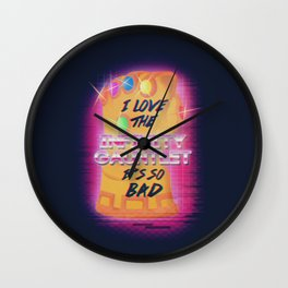 I love the infinity gauntlet...it's so bad Wall Clock