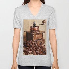 coffee grinder 2 Unisex V-Neck
