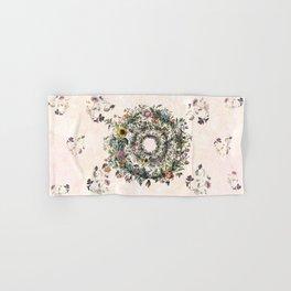 Circle of life- floral Hand & Bath Towel