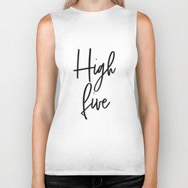 High Five, Inspirational Art, Printable Art, Scandinavian Print, Motivationa Art Biker Tank